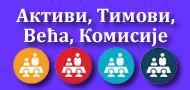 Aктиви, тимови, већа и комисије